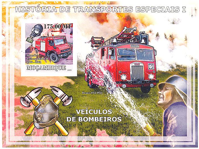 Почтовый блок без зубцов Пожарные автомобили. Мозамбик. 2009 годL2070 EПочтовый блок без зубцов Пожарные автомобили. Мозамбик. 2009 год. Размер марок 4 х 3,8 см. Размер блока 14,2 х 10,3 см. Сохранность хорошая.