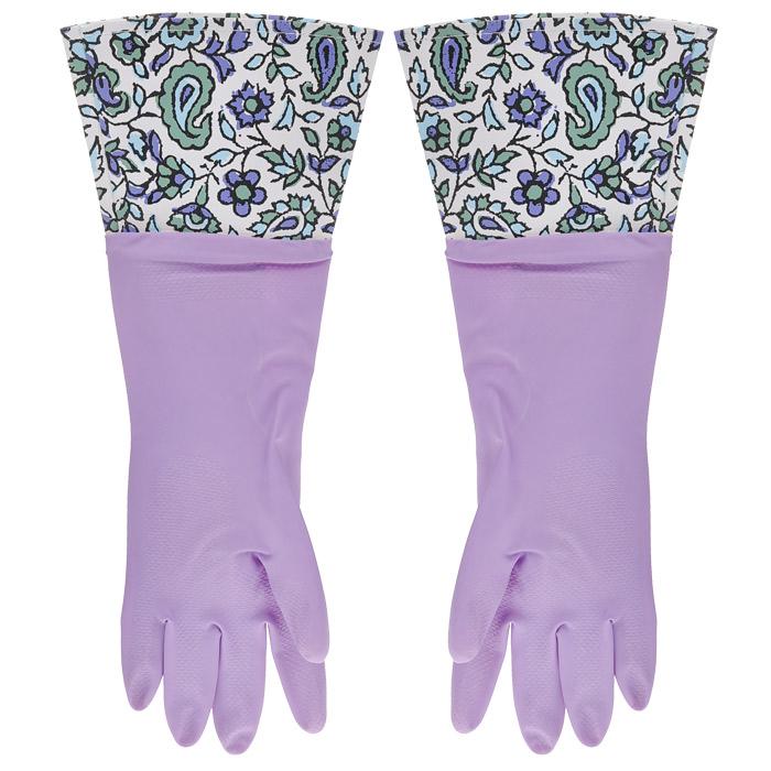 Перчатки латексные, с манжетой из ПВХ и внутренним хлопковым напылением. Размер М. 29482