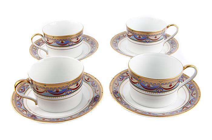 Чайный набор Великая герцогиня. Фарфор, деколь, роспись. Франция-Япония, Фаберже, конец XX века