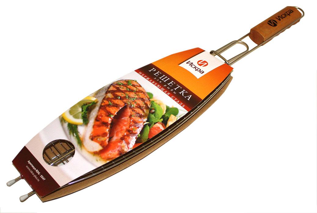 Решетка-гриль для рыбы Искра, 36 х 13 смRDG-SS47Решетка-гриль для рыбы Искра изготовлена из высококачественной нержавеющей стали. Деревянная ручка предохраняет от ожогов.