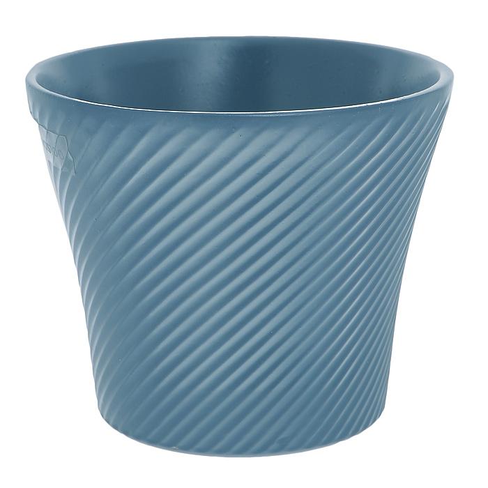 Кашпо для цветов Almas, цвет: синий, 0,6л, диаметр 12 смПт 05512864Кашпо для цветов оригинального дизайна с рельефным рисунком, выполненное из высококачественной керамики, - прекрасный способ подчеркнуть красоту и уникальность растения и дополнить интерьер помещения.
