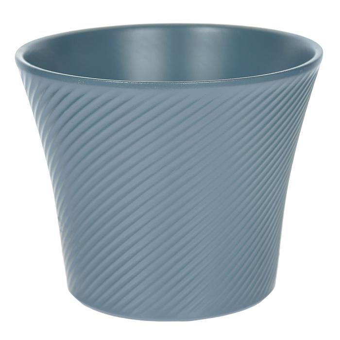 Кашпо для цветов Almas, цвет: синий, 1,2 л, диаметр 15 смПт 05515864Кашпо для цветов оригинального дизайна с рельефным рисунком, выполненное из высококачественной керамики, - прекрасный способ подчеркнуть красоту и уникальность растения и дополнить интерьер помещения.