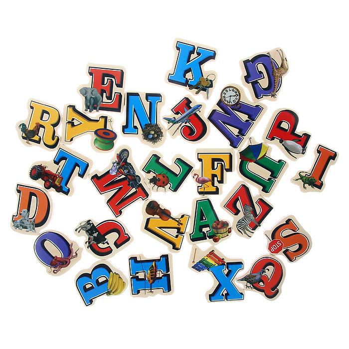 Набор деревянных магнитов Буквы, 20 шт2094Набор деревянных магнитов Буквы включает в себя двадцать магнитов, на которых изображены разноцветные буквы английского алфавита и различные предметы, названия которых начинаются на соответствующую букву. Ваш ребенок сможет в игровой форме изучить буквы, научиться правильно составлять слова при изучении английского языка. Магниты легко крепятся на любые металлические поверхности, ими можно украшать холодильник и другие предметы домашнего обихода. Кроме того, магниты подойдут для крепления записок и фотографий. Характеристики: Материал: дерево, магнит. Средний размер магнита: 5 см х 5 см х 0,5 см.