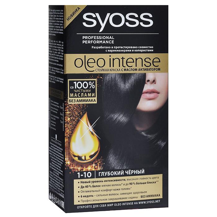 Syoss Краска для волос Oleo Intense, 1-10. Глубокий черный93935001Краска для волос Syoss Oleo Intense - первая стойкая крем-маска на основе масла-активатора, без аммиака и со 100% чистыми маслами - для высокой интенсивности и стойкости цвета, профессионального закрашивания седины и до 90% больше блеска. Насыщенная формула крем-масла наносится без подтеков. 100% чистые масла работают как усилитель цвета: технология Oleo Intense использует силу и свойство масел максимизировать действие красителя. Абсолютно без аммиака, для оптимального комфорта кожи головы. Одновременно краска обеспечивает экстра-восстановление волос питательными маслами, делая волосы до 40% более мягкими. Волосы выглядят здоровыми и сильными 6 недель. Характеристики: Номер краски: 1-10. Цвет: глубокий черный. Степень стойкости: 3 (обеспечивает стойкое окрашивание). Объем тюбика с окрашивающим кремом: 50 мл. Объем флакона-аппликатора с проявляющей эмульсией: 50 мл. Объем кондиционера: 15 мл. Производитель: Германия. В...
