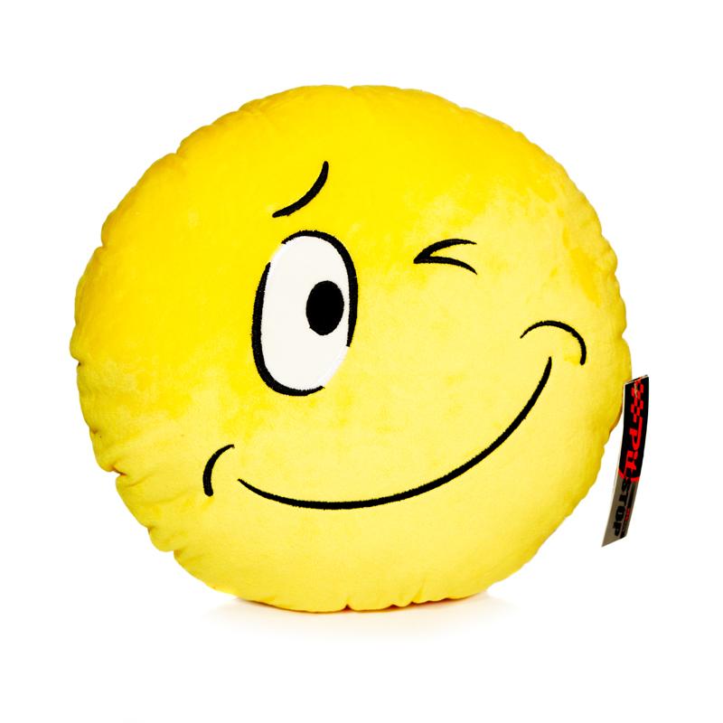 Подушка автомобильная Смайлик, цвет: желтыйPS-SUT121150