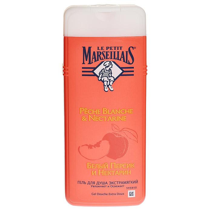 Le Petit Marseillais Гель для душа Белый персик и нектарин, 400 мл03034016Гель для душа Le Petit Marseillais Белый персик и нектарин увлажняет и освежает. Воздушный и легко смывающийся гель образует душистую пену с насыщенным солнечным ароматом. Белый персик обладает смягчающими свойствами. Нектарин обладает освежающим воздействием на кожу.