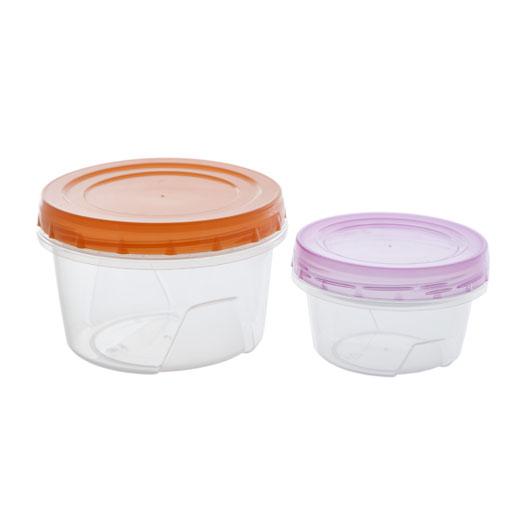 """Набор банок для хранения продуктов """"Полимербыт"""", герметичная, 0,3 л, 0,7 л. C43102"""