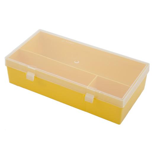 Коробка для мелочей Профи-3, цвет: жёлтый, 28,5 см х 14 см х 7 смC503Коробка для мелочей Профи-3 изготовлена из пластика и предназначена для хранения различных бытовых предметов небольшого размера и швейных принадлежностей. Коробка снабжена перегородками, которые делят её на три отделения. Крышка с двумя креплениями поможет защитить содержимое от пыли, грязи и влаги.