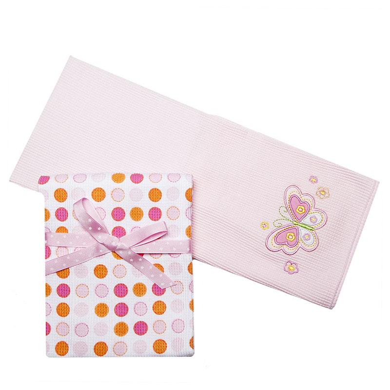 Комплект трикотажных пеленок Spasilk Бабочка, цвет: розовый, 76 см х 76 см, 2 штRB TH 07Трикотажные пеленки Spasilk Бабочка подходят для пеленания ребенка с самого рождения. Они выполнены из термо-хлопка, натуральные волокна которого позволяют коже малыша дышать, а также имеют согревающий эффект. Такая ткань гипоаллергенна, обладает повышенными теплоизоляционными свойствами и не теряет формы после стирки. Пеленку также можно использовать как легкое одеяло, простынку, полотенце после купания, солнечный козырек, накидку для кормления грудью или как согревающий компресс при коликах. В комплект входят две пеленки: нежно-розового цвета с вышитой аппликацией в виде бабочки и белого цвета в горошек розового и оранжевого цветов.