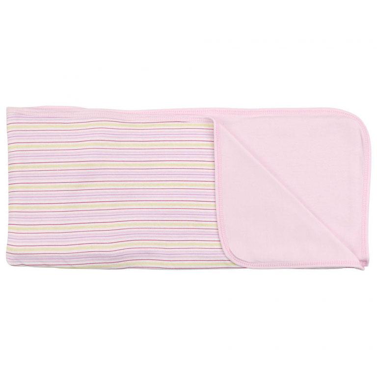 Пеленальное одеяло Розовые полоски, цвет: розовый, 71 см х 90 смRB A1SПеленальное одеяло Розовые полоски невероятно мягкое и нежное на ощупь, оно словно создано для того, чтобы окружить теплотой и радостью маленькую кроху. В него можно завернуть малыша для прогулки в теплое время года или использовать дома. Очень важно, чтобы то, к чему прикасается ребенок, было не только красивым на внешний вид, но безопасным. Одеяльце изготовлено из нежного хлопкового трикотажа. Оно с одной стороны оформлено принтом в разноцветную полоску, с другой - однотонное, приятного розового цвета. Пеленальное одеяло - лучший выбор родителей, которые хотят подарить ребенку ощущение комфорта и надежности уже с первых дней жизни.