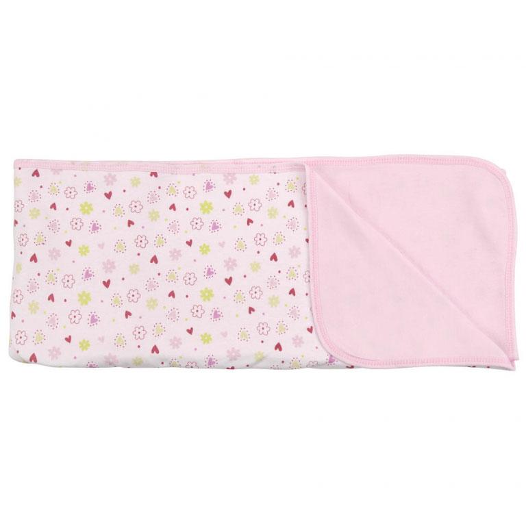 Пеленальное одеяло Цветочки, цвет: розовый, 71 см х 90 смRB A1PПеленальное одеяло Цветочки невероятно мягкое и нежное на ощупь, оно словно создано для того, чтобы окружить теплотой и радостью маленькую кроху. В него можно завернуть малыша для прогулки в теплое время года или использовать дома. Очень важно, чтобы то, к чему прикасается ребенок, было не только красивым на внешний вид, но безопасным. Одеяльце изготовлено из нежного хлопкового трикотажа. Оно с одной стороны оформлено изображениями цветочков и сердечек, с другой - однотонное, приятного розового цвета. Пеленальное одеяло - лучший выбор родителей, которые хотят подарить ребенку ощущение комфорта и надежности уже с первых дней жизни.