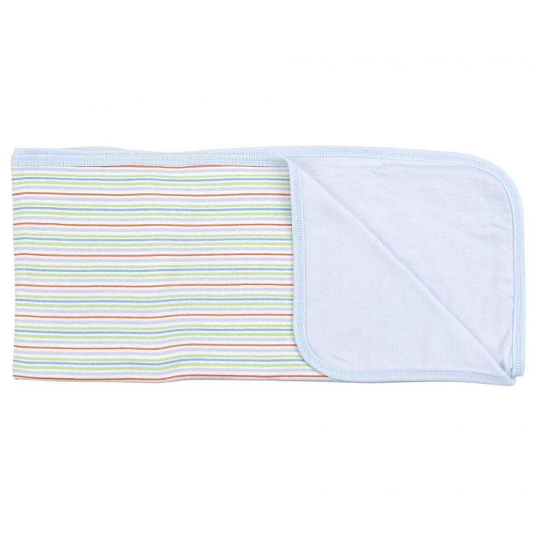 Пеленальное одеяло Зеленые полоски, цвет: голубой, 71 см х 90 смRB A7SПеленальное одеяло Зеленые полоски невероятно мягкое и нежное на ощупь, оно словно создано для того, чтобы окружить теплотой и радостью маленькую кроху. В него можно завернуть малыша для прогулки в теплое время года или использовать дома. Очень важно, чтобы то, к чему прикасается ребенок, было не только красивым на внешний вид, но безопасным. Одеяльце изготовлено из нежного хлопкового трикотажа. Оно с одной стороны оформлено принтом в разноцветную полоску, с другой - однотонное, приятного голубого цвета. Пеленальное одеяло - лучший выбор родителей, которые хотят подарить ребенку ощущение комфорта и надежности уже с первых дней жизни. Характеристики: Материал: 100% хлопок. Размер: 71 см х 90 см. Изготовитель: Китай.
