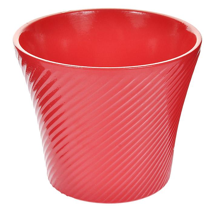 Кашпо для цветов Almas, цвет: розовый, 0,6 л, диаметр 12 смПт 05512699Кашпо Almas выполнено из керамики розового цвета и оформлено рельефным орнаментом в мелкую диагональную полоску. Такое кашпо прекрасно подойдет для небольших комнатных растений и ярко оформит интерьер вашего дома или офиса.