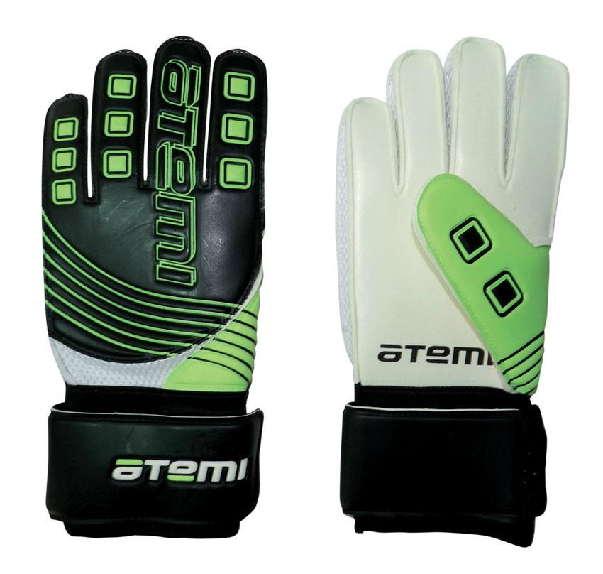 """Atemi Перчатки вратарские """"Atemi"""", цвет: черный, зеленый. Размер XL"""