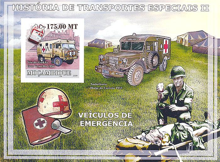 Почтовый блок без зубцов Автомобили скорой помощи. Мозамбик. 2009 годL2070 EПочтовый блок без зубцов Автомобили скорой помощи. Мозамбик. 2009 год. Размер 17,5 х 9,8 см. Сохранность хорошая.