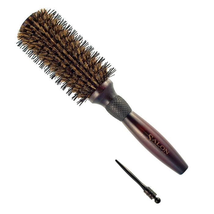 Salon Professional Расческа круглая, с натуральной щетиной. 336-2D733CI