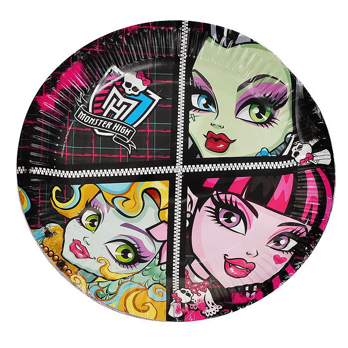 Набор одноразовых тарелок Монстр Хай, 10 шт, в ассортименте20947Набор одноразовых тарелок Монстр Хай сделает ваш стол ярким и необычным. Тарелки оформлены яркими изображениями персонажей популярного мультсериала Школа монстров (Monster High). В набор входят десять тарелок. Эти праздничные аксессуары поднимут настроение вам и вашим гостям!