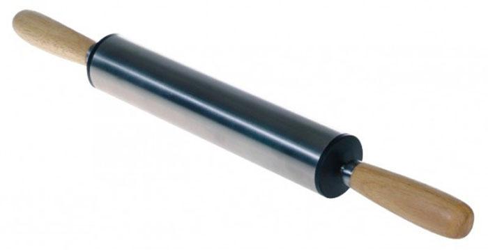 Скалка из нержавеющей стали Regent Inox Presto, 30 см х 5 см93-AC-PR-12Скалка Regent Inox Presto, выполненная из нержавеющей стали, предназначена для раскатывания теста. Эргономичные подвижные ручки и вращающийся валик делают работу быстрой и приятной. Теперь вам не потребуется много усилий, чтобы раскатать тесто.