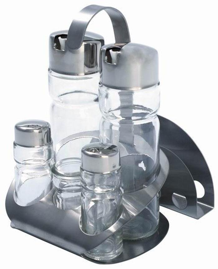 Набор для специй Aroma, 7 предметов93-DE-AR-07Набор для специй Aroma состоит из солонки, перечницы, емкости для масла, емкости для уксуса, подставки для зубочисток, подставки для салфеток и металлической подставки. Предметы набора выполнены из стекла, нержавеющей стали и пластика. Преимущества набора для специй Aroma: экологически чистые высококачественные материалы изготовления, оригинальный дизайн, простота в использовании, легкость в уходе. Можно мыть в посудомоечной машине.