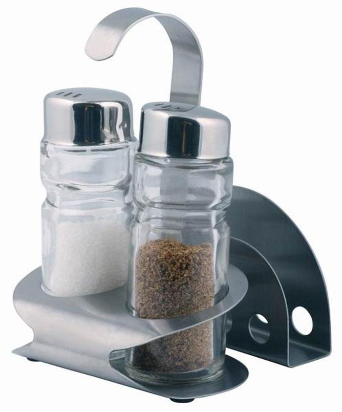 Набор для специй Aroma, 4 предмета. 93-DE-AR-1093-DE-AR-10Набор Aroma состоит из солонки, перечницы, подставки для салфеток и металлической подставки. Предметы набора изготовлены из нержавеющей стали и стекла, прочных, экологически чистых материалов. Солонка и перечница легки в использовании: стоит только перевернуть емкости, и вы с легкостью сможете поперчить или добавить соль по вкусу в любое блюдо. Можно мыть в посудомоечной машине. Оригинальный дизайн, эстетичность и функциональность набора позволят ему стать достойным дополнением к кухонному инвентарю. Характеристики: Материал: нержавеющая сталь, стекло. Размер солонки, перечницы: 9 см х 3 см х 3 см. Размер подставки для салфеток: 8 см х 5 см х 2 см. Размер металлической подставки: 12 см х 8,5 см х 6 см Размер упаковки: 13 см х 9 см х 8 см. Артикул: 93-DE-AR-10.
