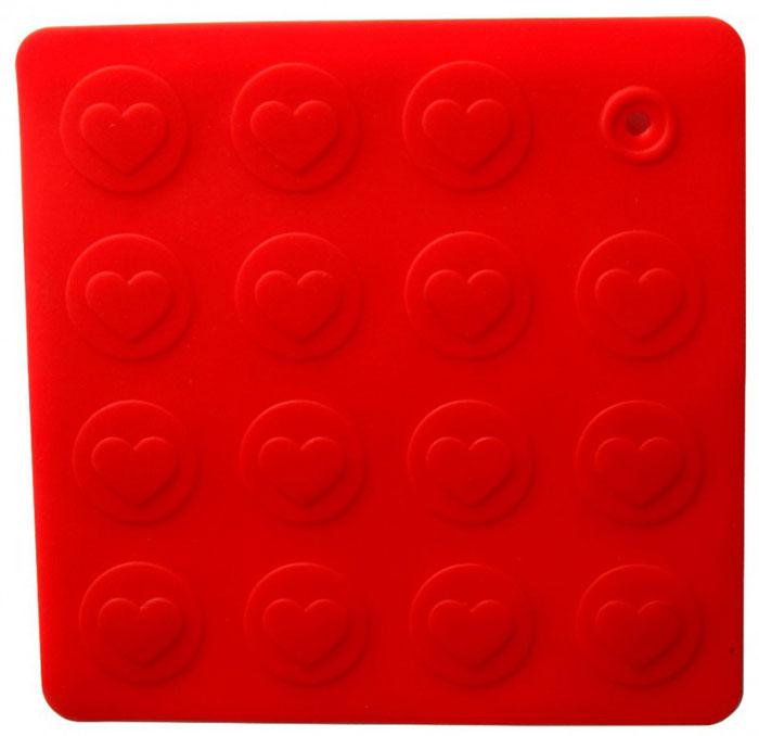 Прихватка-подставка Сердце, цвет: красный93-SI-CU-04.1Прихватка-подставка Сердце выполнена из силикона, оформлена принтом в виде сердечек. Прихватку-подставку Сердце можно использовать с любой посудой. Она защитит руки от ожогов, а мебель и другие кухонные поверхности от царапин, механических повреждений, воздействия высоких температур. Изделия из силикона выдерживают высокие и низкие температуры (от -40°С до +230°С). Они износостойки, легко моются, не горят и не тлеют, не впитывают запахи, не оставляют пятен. Силикон абсолютно безвреден для здоровья. Прихватка-подставка Сердце - отличный подарок, необходимый любой хозяйке. Характеристики: Материал: силикон. Размер прихватки-подставки: 18 см х 18 см. Размер упаковки: 19 см х 26 см х 0,5 см. Артикул: 93-SI-CU-04.1.