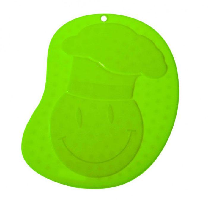 Прихватка - подставка под горячее Повар, силиконовая, цвет: зелёный93-SI-CU-04.3Прихватка-подставка Повар выполнена из силикона, оформлена принтом в виде весёлого изображения повара. Прихватку-подставку Повар можно использовать с любой посудой. Она защитит руки от ожогов, а мебель и другие кухонные поверхности от царапин, механических повреждений, воздействия высоких температур. Изделия из силикона выдерживают высокие и низкие температуры (от -40°С до +230°С). Они износостойки, легко моются, не горят и не тлеют, не впитывают запахи, не оставляют пятен. Силикон абсолютно безвреден для здоровья. Прихватка-подставка Повар - отличный подарок, необходимый любой хозяйке.