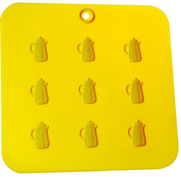 Прихватка-подставка Кухня, цвет: желтый93-SI-CU-04.5Прихватка-подставка Кухня выполнена из силикона, оформлена принтом в виде графинов. Прихватку-подставку Кухня можно использовать с любой посудой. Она защитит руки от ожогов, а мебель и другие кухонные поверхности от царапин, механических повреждений, воздействия высоких температур. Изделия из силикона выдерживают высокие и низкие температуры (от -40°С до +230°С). Они износостойки, легко моются, не горят и не тлеют, не впитывают запахи, не оставляют пятен. Силикон абсолютно безвреден для здоровья. Прихватка-подставка Кухня - отличный подарок, необходимый любой хозяйке. Характеристики: Материал: силикон. Размер прихватки-подставки: 18 см х 18 см. Размер упаковки: 28 см х 19 см х 0,5 см. Артикул: 93-SI-CU-04.5.