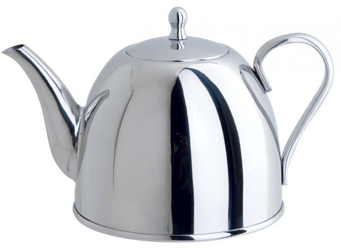 Чайник заварочный Tiera, 1 л93-TP13.1Заварочный чайник Tiera выполнен из высококачественной нержавеющей стали 18/10 с зеркальной полировкой. Чай в таком чайнике дольше остается горячим, а полезные и ароматические вещества полностью сохраняются в напитке. Чайник снабжен удобной терморучкой. Благодаря оригинальному дизайну такой чайник станет украшением любой кухни. Крепление ручек посуды к корпусу выполнено методом точечной сварки или клепкой что обеспечивает минимальный нагрев, прочность и надежность. Чайник пригоден для использования на всех видах плит. Можно мыть в посудомоечной машине.