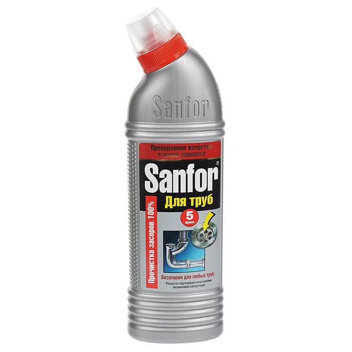 Гель для удаления засоров Sanfor, 500 г1560Средство для очистки канализационных труб Sanfor быстро устранит даже очень сильные засоры в канализационных стоках. Результат достигается уже за 5 минут. Благодаря густой структуре гель проникает глубоко в трубу непосредственно к засору, даже при наличии воды. Эффективно растворяет в стоках волосы, остатки пищи, жир и другие загрязнения. Нейтрализует неприятные запахи. Средство безопасно для всех видов труб, в том числе и пластиковых. Убивает микробы за 60 минут. Содержит хлор - наиболее эффективное дезинфицирующее средство.