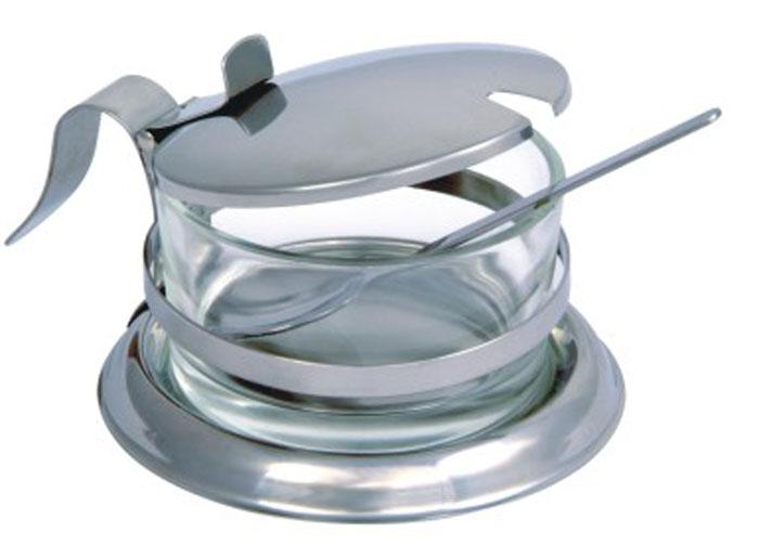 Сахарница Desco с ложкой93-DE-ZU-09Сахарница Linea Desco изготовлена из экологически чистых материалов: нержавеющей стали и стекла. Сахарница состоит из стального каркаса и стеклянной вынимающейся емкости для сахара, закрывается удобной откидной крышкой со специальным держателем. В комплекте - небольшая ложечка из нержавеющей стали. Можно мыть в посудомоечной машине. Такая сахарница понравится любителям яркого оригинального дизайна и станет неотъемлемым атрибутом чаепития.