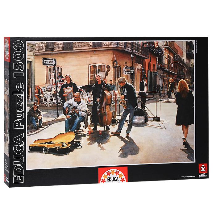 Улицы Нового Орлеана. Пазл, 1500 элементов15533Пазл Улицы Нового Орлеана, без сомнения, придется вам по душе. Собрав этот пазл, включающий в себя 1500 элементов, вы получите великолепную цветную картину с изображением уличных музыкантов, исполняющих песни на улицах Нового Орлеана. В комплект входит специальный клей, представляющий собой порошок, который перед применением требуется развести водой. Он надежно склеивает собранный пазл и не оставляет следов на поверхности картинки. Пазлы - прекрасное антистрессовое средство для взрослых и замечательная развивающая игра для детей. Собирание пазла развивает у ребенка мелкую моторику рук, тренирует наблюдательность, логическое мышление, знакомит с окружающим миром, с цветом и разнообразными формами, учит усидчивости и терпению, аккуратности и вниманию. Собирание пазла - прекрасное времяпрепровождение для всей семьи.