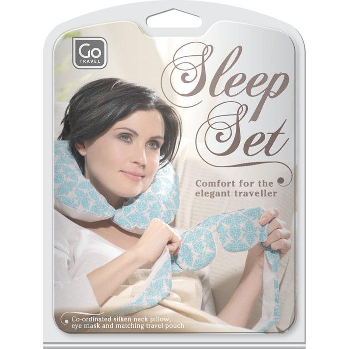 "Набор для путешествий ""Go travel"": маска для сна, подушка. 711 DG"