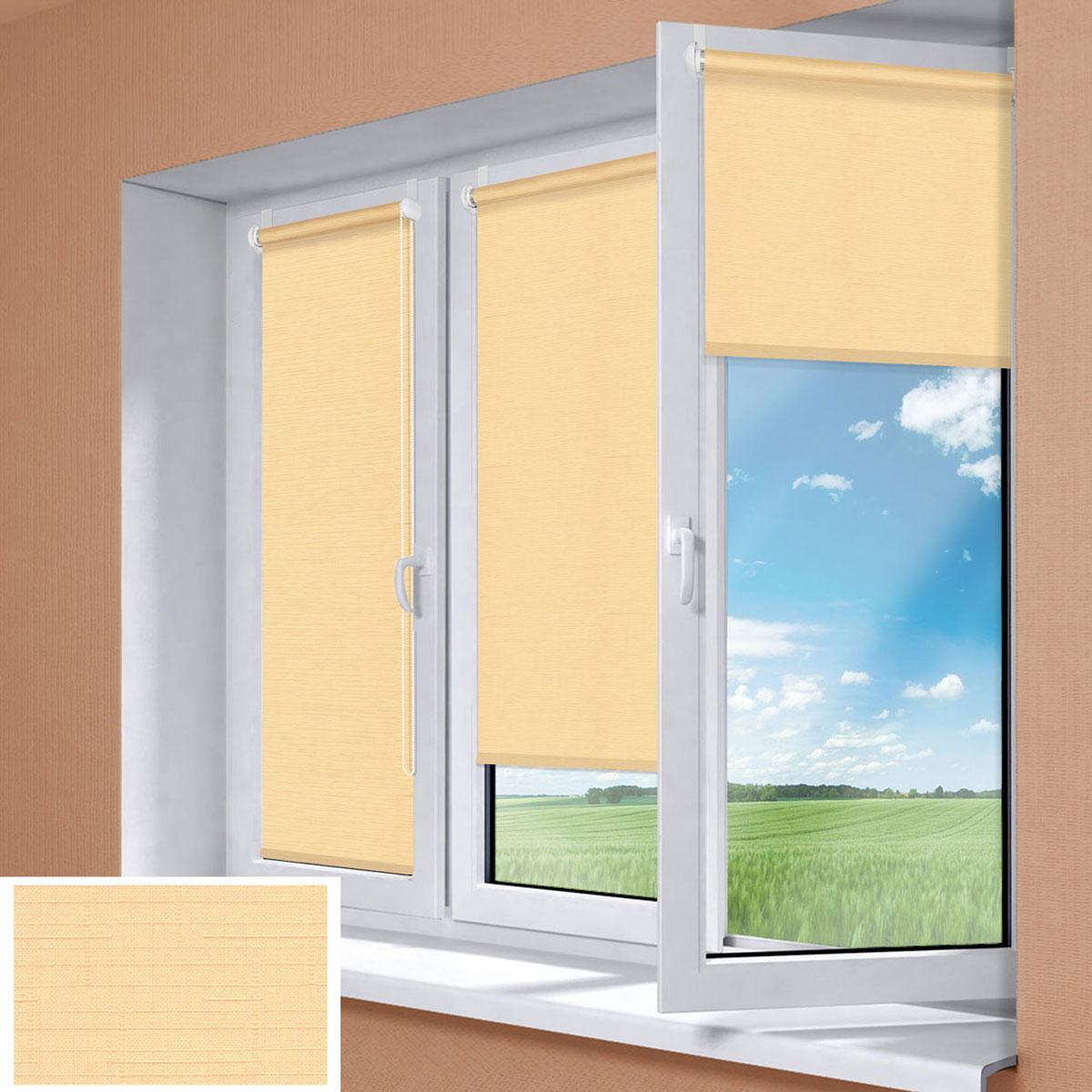 Миниролло KauffOrt 98x170 см, цвет: светлый абрикос3098112Рулонная штора Миниролло выполнена из высокопрочной ткани, которая сохраняет свой размер даже при намокании. Ткань не выцветает и обладает отличной цветоустойчивостью. Миниролло - это подвид рулонных штор, который закрывает не весь оконный проем, а непосредственно само стекло. Такие шторы крепятся на раму без сверления при помощи зажимов или клейкой двухсторонней ленты. Окно остается на гарантии, благодаря монтажу без сверления. Такая штора станет прекрасным элементом декора окна и гармонично впишется в интерьер любого помещения.