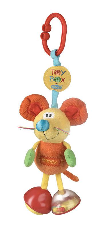 Playgro Игрушка-подвеска Мышка0101141Мягкая игрушка-подвеска Playgro Мышка предназначена для детей с самого рождения. Благодаря своей яркой расцветке и приятному на ощупь материалу игрушка привлечет внимание малыша и в игровой форме позволит ему развиваться. Игрушка выполнена из разной по фактуре ткани в виде симпатичной мышки. Ножки игрушки представляют собой погремушку и пищалку. Благодаря пластиковой клипсе, прикрепленной мышке, игрушку можно подвесить к кроватке, коляске, автокреслу или игровой дуге малыша. Яркая игрушка-подвеска Playgro Мышка поможет ребенку в развитии цветового и звукового восприятия, концентрации внимания, мелкой моторики рук, координации движений и тактильных ощущений. Характеристики: Материал: текстиль, пластик. Рекомендуемый возраст: от 0 месяцев. Высота игрушки: 23 см. Изготовитель: Китай. УВАЖАЕМЫЕ КЛИЕНТЫ! Обращаем ваше внимание на возможные изменения в дизайне товара: форма клипсы может отличаться от представленной на изображении,...