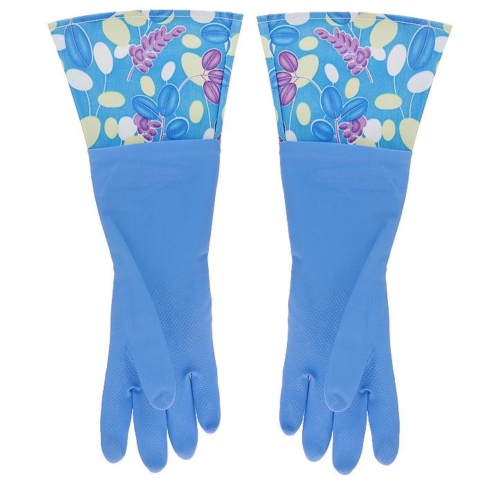 Перчатки латексные, с манжетой из полиэстера и внутренним хлопковым напылением. Размер М. 2949329493Хозяйственные перчатки, выполненные из латекса, идеально подойдут для всех видов хозяйственных работ. Они бережно и надежно предохранят нежную кожу рук от агрессивной внешней среды, такой, как жесткая водопроводная вода и моющие средства. Высокие манжеты защищают рукава от грязи и влаги. Не дают воде попадать во внутрь.