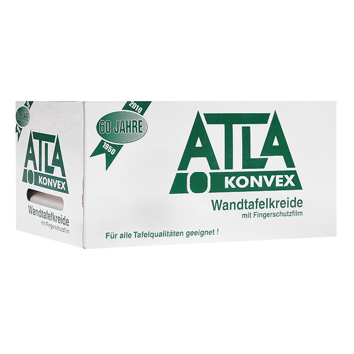 Мел школьный белый Atla Konvex, 72 шт12305Школьный мел Atla Konvex белого цвета предназначен для письма и рисования на школьных досках, асфальте и бетоне. Мел легко и мягко пишет, оставляя четкий след. Комплект содержит 72 мелка.