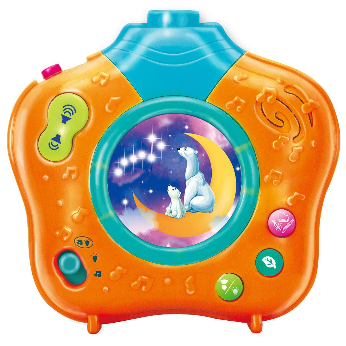 Ночник-проектор Волшебный мир, цвет: желтый0806-07Музыкальный ночник-проектор Волшебный мир с помощью приятных колыбельных и мелодий, звуков природы и мягкого света убаюкает Вашего малыша. Он очень компактный и его можно брать с собой в гости или путешествие. Красочная проекция на потолке движется по кругу, привлекая внимание, успокаивая и завораживая ребенка. В ночнике предусмотрена возможность установить таймер и выбрать режим работы. Приглушенный свет и нежные мелодии создадут сказочную атмосферу в комнате малыша и погрузят его в волшебный мир приятных сновидений! Работает от 3 батареек 1,5 V АА (входят в комплект).