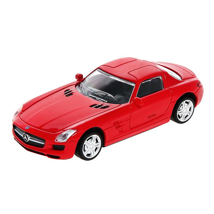 Модель автомобиля Mercedes SLS, цвет: красный. Масштаб 1/4358100Замечательная яркая машинка Mercedes SLS привлечет внимание не только детей, но и взрослых. Машинка является точной уменьшенной копией настоящего автомобиля. Модель выполнена из металла с использованием пластика и поставляется в фирменной картонной коробке с прозрачным пластиковым окошком. Колеса мдели крутятся. Модель Mercedes SLS будет отлично смотреться в качестве оригинального подарка не только любителю автомобилей, но и человеку, ценящему стиль и изысканность, а качество исполнения представит такой подарок в самом лучшем свете.