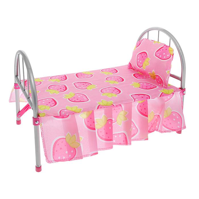Melobo Кроватка для куклы Foshan цвет розовый9342Легкая кроватка Foshan создана, чтобы любимые игрушки вашей малышки сладко спали и видели сказочные сны. Каркас кроватки выполнен из металла с пластиковыми элементами. Спинка и ножки кроватки раскладываются и закрепляются с помощью фиксаторов. В сложенном виде кроватка не занимает много места, что удобно для ее хранения. В комплект с кроваткой входят покрывало и мягкая подушечка. Теперь ваша малышка сможет убаюкивать своих кукол в удобной детской кроватке. Порадуйте ее таким замечательным подарком!