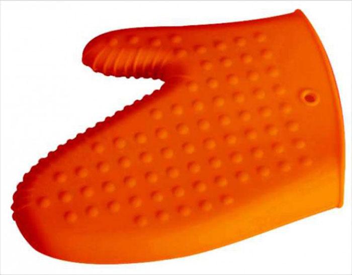 Варежка-прихватка силиконовая Regent Inox Silicone, цвет: оранжевый93-SI-CU-06.1Варежка-прихватка Regent Inox Silicone выполнена из силикона оранжевого цвета. Изделие выдерживает высокую и низкую температуры (от -40°С до +230°С). Варежка-прихватка гигиенична, эластична, износостойка, не горит и не тлеет, не впитывает запахи, не оставляет пятен. Силикон абсолютно безвреден для здоровья, не вступает в реакцию с продуктами, легко моется. Варежкой-прихваткой можно брать не только горячие, но и холодные предметы, а также влажные и скользкие; она отлично защищает от ожогов всю ладонь. Силиконовая варежка-прихватка - отличный подарок, удобный и необходимый любой хозяйке.