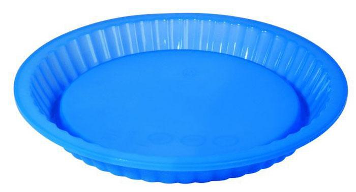 """Форма для пирога """"Regent Inox"""", силиконовая, цвет: синий, диаметр 27 см"""