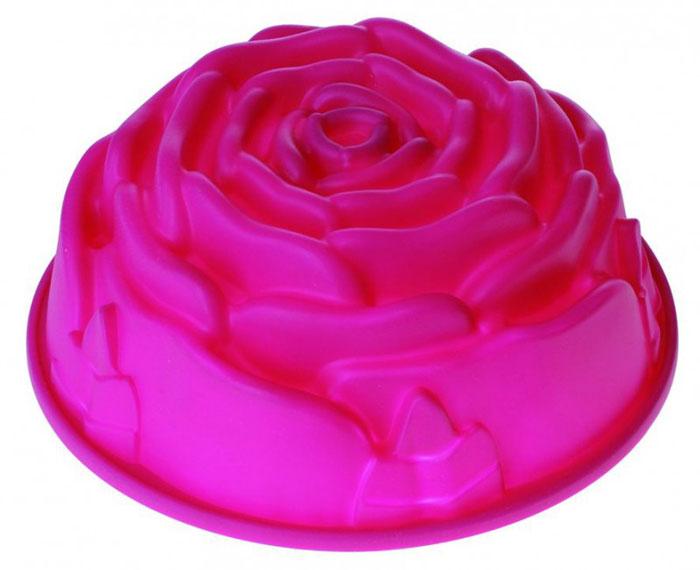 Форма для выпечки и заморозки Regent Inox Роза, силиконовая, цвет: фуксия, диаметр 23,5 см93-SI-FO-13Форма Regent Inox Роза, выполненная из силикона цвета фуксии, предназначена для выпечки и заморозки. Дно формы рельефное, в виде розы. Силиконовые формы для выпечки имеют много преимуществ по сравнению с традиционными металлическими формами и противнями. Они идеально подходят для использования в микроволновых, газовых и электрических печах при температурах до +230°С. В случае заморозки до -40°С. За счет высокой теплопроводности силикона изделия выпекаются заметно быстрее. Благодаря гибкости и антиприлипающим свойствам силикона, готовое изделие легко извлекается из формы. Для этого достаточно отогнуть края и вывернуть форму (выпечке дайте немного остыть, а замороженный продукт лучше вынимать сразу). Силикон абсолютно безвреден для здоровья, не впитывает запахи, не оставляет пятен, легко моется. С такой формой вы всегда сможете порадовать своих близких оригинальной выпечкой.