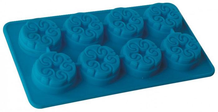 Форма для льда и десерта Regent Inox Узорная, силиконовая, цвет: голубой, 8 ячеек93-SI-FO-16.3Форма для льда и десерта Узорная выполнена из силикона и предназначена для изготовления конфет, мармелада, желе, льда, выпечки и т.д. Оригинальный способ подачи изделий не оставит равнодушными родных и друзей. Силиконовые формы выдерживают высокие и низкие температуры (от -40°С до +230°С). Они эластичны, износостойки, легко моются, не горят и не тлеют, не впитывают запахи, не оставляют пятен. Силикон абсолютно безвреден для здоровья. Не используйте моющие средства, содержащие абразивы. Можно мыть в посудомоечной машине.