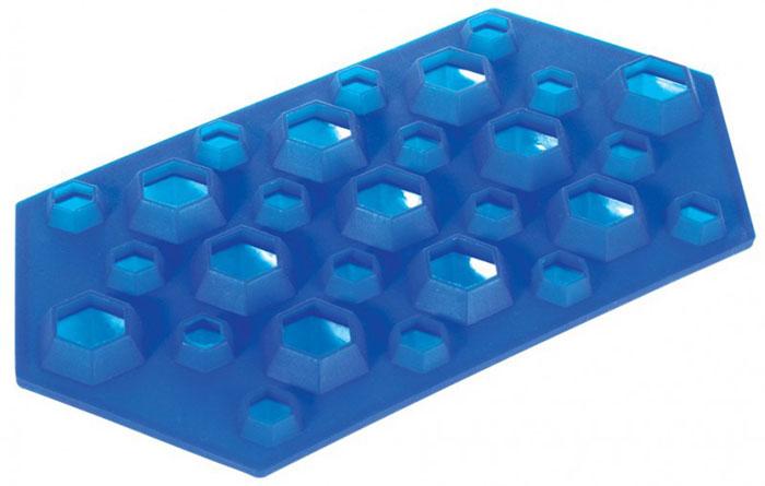 Форма для льда Regent Inox Бриллианты, силиконовая, цвет: синий, 23 х 12 х 2,5 см