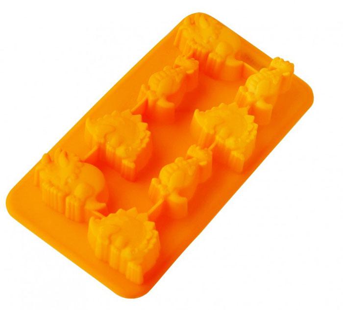 Форма для льда и десерта Динозаврики, силиконовая, цвет: оранжевый, 8 ячеек93-SI-FO-16.9Форма для льда и десерта Динозаврики выполнена из силикона и предназначена для изготовления льда, конфет, мармелада, желе, выпечки и т.д. На одном листе расположено 8 небольших ячеек в виде разных динозавриков. Оригинальный способ подачи изделий не оставит равнодушными родных и друзей. Силиконовые формы выдерживают высокие и низкие температуры (от -40°С до +230°С). Они эластичны, износостойки, легко моются, не горят и не тлеют, не впитывают запахи, не оставляют пятен. Силикон абсолютно безвреден для здоровья. Не используйте моющие средства, содержащие абразивы. Можно мыть в посудомоечной машине. Характеристики: Материал: силикон. Общий размер формы: 19,5 см х 10,5 см х 2,5 см. Средний размер ячейки: 3,5 см х 3 см. Размер упаковки: 28,5 см х 15,5 см х 3 см. Изготовитель: Италия. Артикул: 93-SI-FO-16.9.