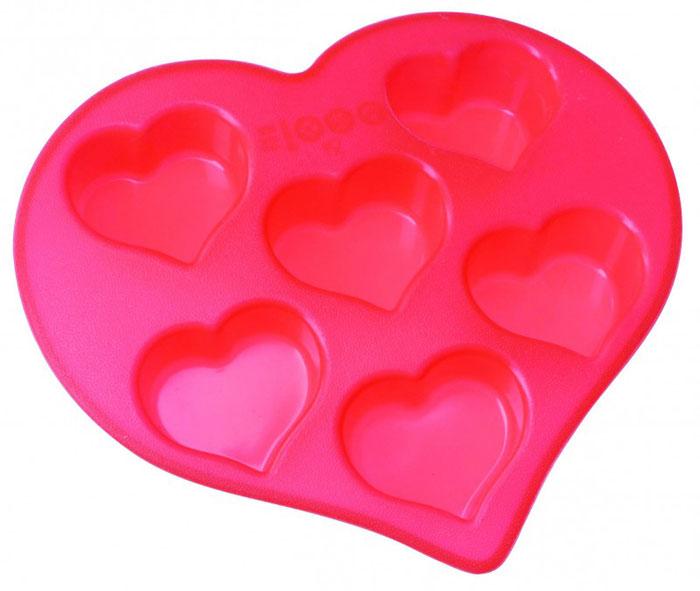 Форма для выпечки и заморозки Сердечки, силиконовая, цвет: красный, 6 ячеек93-SI-FO-19Форма для выпечки и заморозки Regent Inox Сердечки выполнена из силикона и предназначена для изготовления конфет, мармелада, желе, льда и выпечки. На одном листе расположено 6 небольших ячеек в форме сердечек. Оригинальный способ подачи изделий не оставит равнодушными родных и друзей. Силиконовые формы выдерживают высокие и низкие температуры (от -40°С до +230°С). Они эластичны, износостойки, легко моются, не горят и не тлеют, не впитывают запахи, не оставляют пятен. Силикон абсолютно безвреден для здоровья. Не используйте моющие средства, содержащие абразивы. Можно мыть в посудомоечной машине. Подходит для использования во всех типах печей. Формы для выпечки и заморозки Regent Inox - отличный подарок! Они удобны и необходимы любой хозяйке! Характеристики: Материал: силикон. Общий размер формы: 26,5 см х 25,5 см х 4 см. Размер одной ячейки: 7 см х 7 см х 3,5 см. Размер упаковки: 29,5 см х 33 см х...