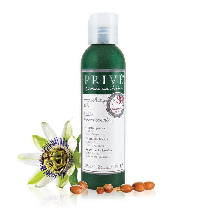 Prive Масло для волос №39, 125 млPRV4920082Масло Prive для волос обогащено арганой, маракуйей, маслом бразильского ореха и травяными смесями. Обеспечивает полную универсальность для кондиционирования и укладки. Придает волосам блеск, гладкость, увлажнение. Можно наносить как на влажные, так и на сухие волосы.