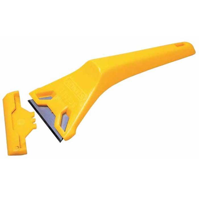 Скребок для окон Stanley0-28-590Скребок Stanley предназначен для удаления загрязнений со стекла, кафеля, керамики. Корпус скребка изготовлен из пластика. В данном скребке предусмотрена замена лезвия.