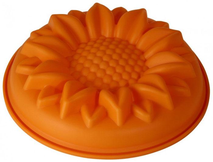 Форма для выпечки и заморозки Regent Inox Ромашка, силиконовая, цвет: оранжевый, 28 х 28 х 6 см93-SI-FO-29Форма для выпечки и заморозки Regent Inox Ромашка выполнена из качественного пищевого силикона. Силиконовая форма имеет много преимуществ по сравнению с традиционными металлическими и алюминиевыми формами. Она идеально подходит для использования в микроволновых, газовых и электрических печах при температурах до 230°С. В случае заморозки до -40°С. По сравнению с традиционными формами и противнями, высокая теплопроводность силикона позволяет выпекать изделие при более низкой температуре, за более короткое время. Готовое изделие (выпеченное или замороженное) легко извлекается из формы, благодаря ее гибкости и антиприлипающим свойствам. Форма абсолютно безвредна для здоровья. Ее можно мыть в посудомоечной машине.