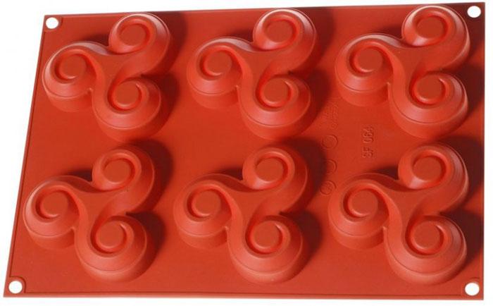 Форма для выпечки и заморозки Regent Inox Крендель, силиконовая, цвет: оранжевый, 6 ячеек, 30 х 21 х 2,5 см93-SI-FO-41Форма для выпечки и заморозки Regent Inox Крендель выполнена из силикона и предназначена для изготовления конфет, мармелада, желе, льда и выпечки. На одном листе расположено 6 небольших ячеек в форме кренделей. Оригинальный способ подачи изделий не оставит равнодушными родных и друзей. Силиконовые формы выдерживают высокие и низкие температуры (от -40°С до +230°С). Они эластичны, износостойки, легко моются, не горят и не тлеют, не впитывают запахи, не оставляют пятен. Силикон абсолютно безвреден для здоровья. Не используйте моющие средства, содержащие абразивы. Можно мыть в посудомоечной машине. Подходит для использования во всех типах печей. Формы для выпечки и заморозки Regent Inox - отличный подарок! Они удобны и необходимы любой хозяйке!